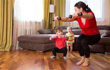 ¿Poco tiempo? Estos ejercicios puede hacerlos cualquier mamá mientras realiza sus labores