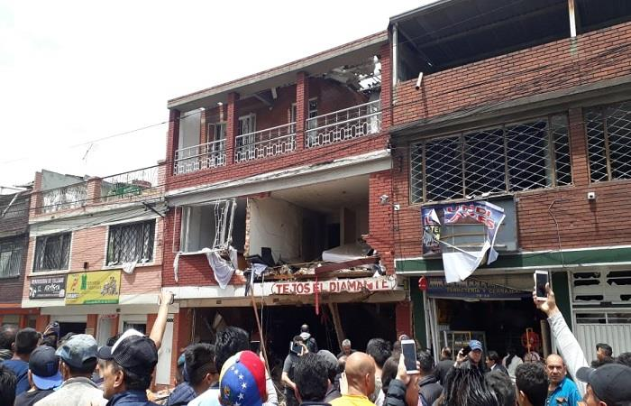 Explosión en casa de barrio Polo Blanco en Bogotá deja cuatro muertos