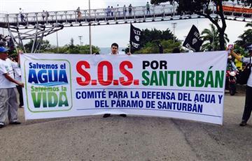Bucaramanga marcha en rechazo de la minería en el Páramo de Santurbán
