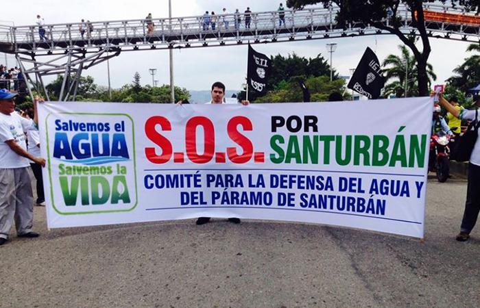 La marcha por el Páramo de Santurbán en contra de la minería