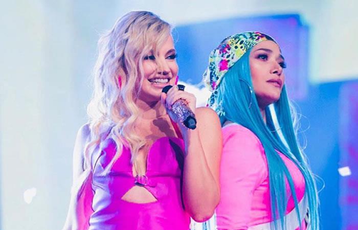Ambas artistas cantaron la canción 'Te quedaste solo'. Foto: Instagram