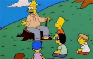 El abuelo Simpson instruyendo conocimiento es lo más 'hit' de las redes