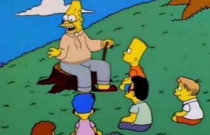 El meme más 'cotizado' de la red: El abuelo Simpson instruyendo conocimiento