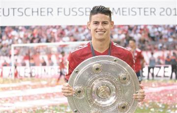 [VIDEO] James Rodríguez se corona campeón de la Bundesliga