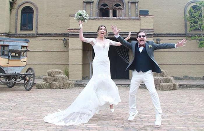Alejandro Riaño y María Manotas ya son marido y mujer. Foto: Instagram/alejandroria