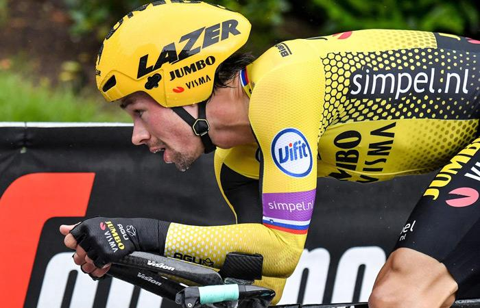 Primoz Roglic, segundo del Giro de Italia. Foto: EFE