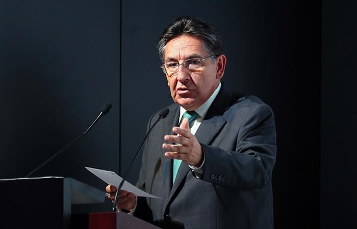 Néstor Humberto Martínez, durante una audiencia pública de rendición de cuentas. Foto: EFE