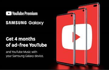 YouTube Premium gratis para nuevos usuarios Galaxy S10 y Galaxy A