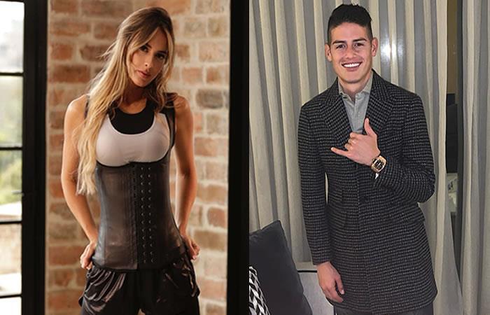 Shannon De Lima y James Rodríguez. Foto: Instagram