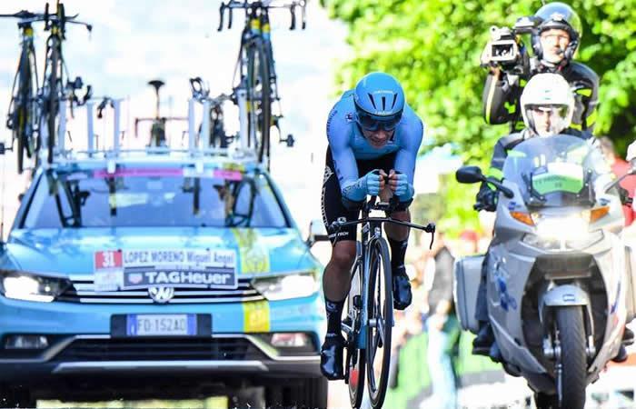 Miguel Ángel López fue séptimo en la decimoquinta etapa del Giro de Italia