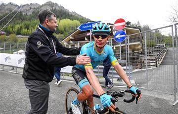 Así sorprendieron a Superman los seguidores colombianos en el Giro de Italia