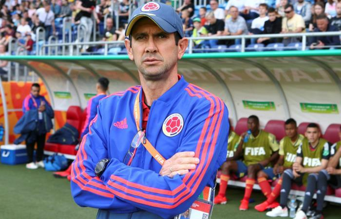 Arturo Reyes, DT de la Selección Colombia Sub 20. Foto: EFE