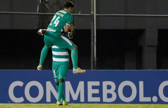 Equidad celebra su paso a octavos de final de Copa Sudamericana. Foto: EFE