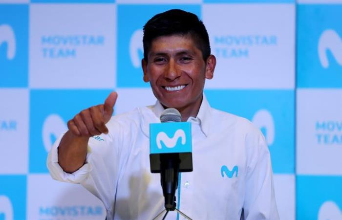 Nairo Quintana en rueda de prensa. Foto: EFE