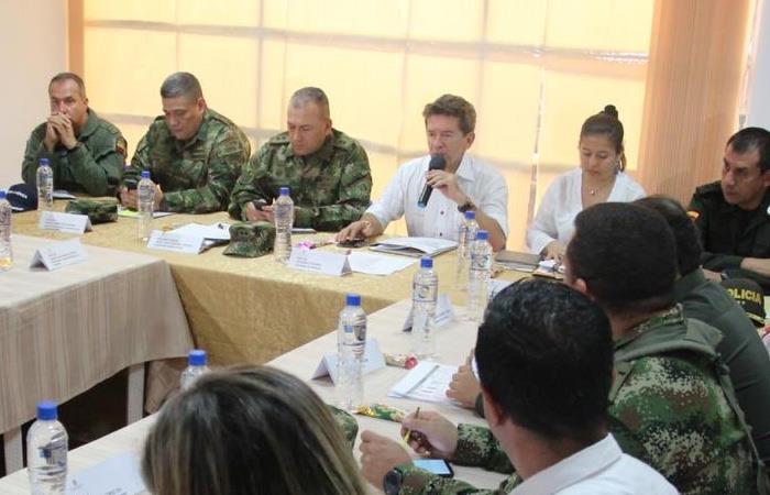 Consejo de Seguridad que tuvo lugar en Cáceres, con el fin de concretar una estrategia en contra de la violencia. Foto: Twitter