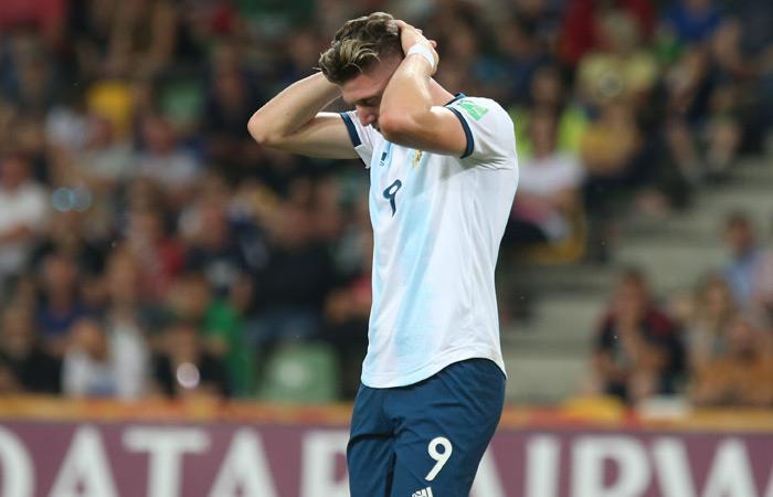 Adolfo Gaich lamenta la eliminación de Argentina del Mundial Sub 20. Foto: EFE