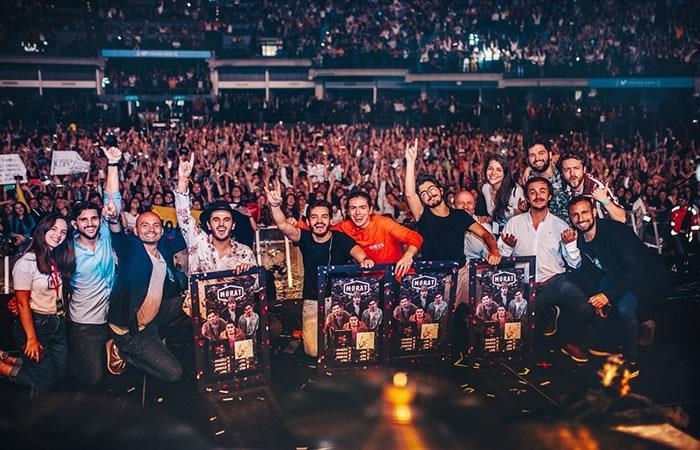 Así se vivió el concierto de Morat en el Movistar Arena