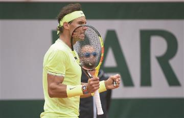 [VIDEO] Rafael Nadal clasifica a la final de Roland Garros