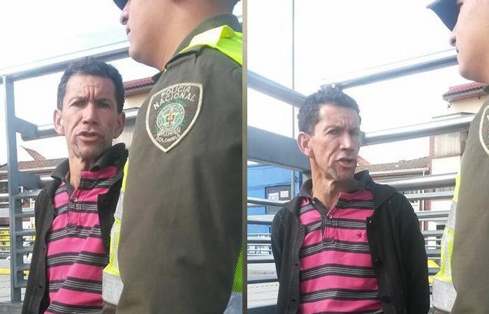 El sujeto ya tiene seis denuncias en contra por acoso sexual en TransMilenio. Foto: Twitter