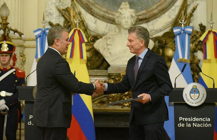 Iván Duque llama a Argentina a ser gestora con Colombia de la
