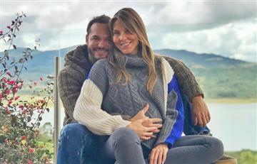 Paula Andrea Betancur, embarazada, protagoniza un romántico baile con su pareja