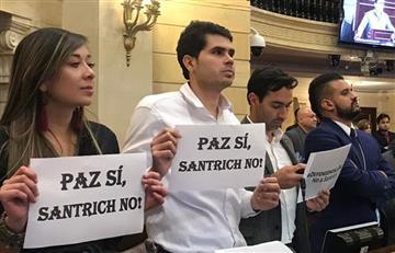 ¡Rechazo total! Así reaccionaron los representantes a la llegada de 'Santrich' al Congreso