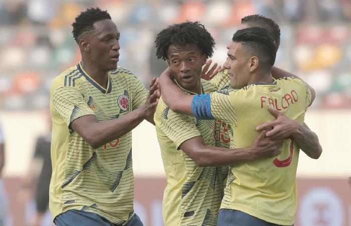 Amistoso entre Colombia y Perú. Foto: EFE