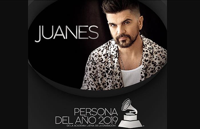 Juanes ha sido elegido 'Persona del Año 2019' en los Gammy Latino