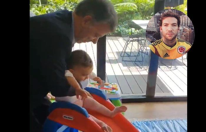 Video de Juan Manuel Santos jugando con su nieta