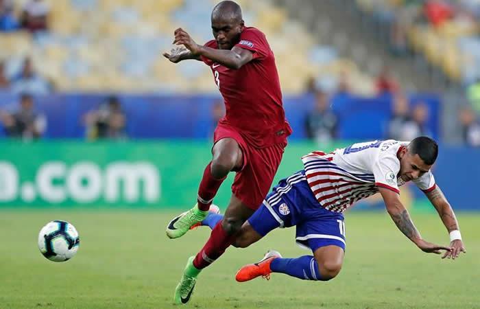 Paraguay vs. Catar. Foto: EFE
