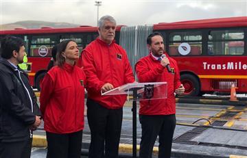 En su primer día de operación, se varó uno de los nuevos buses de TransMilenio