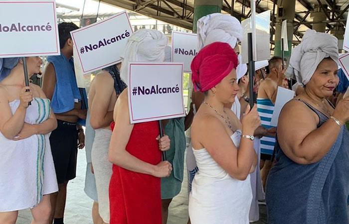 #NoAlcancé fue el numeral que se hizo viral por la particular protesta