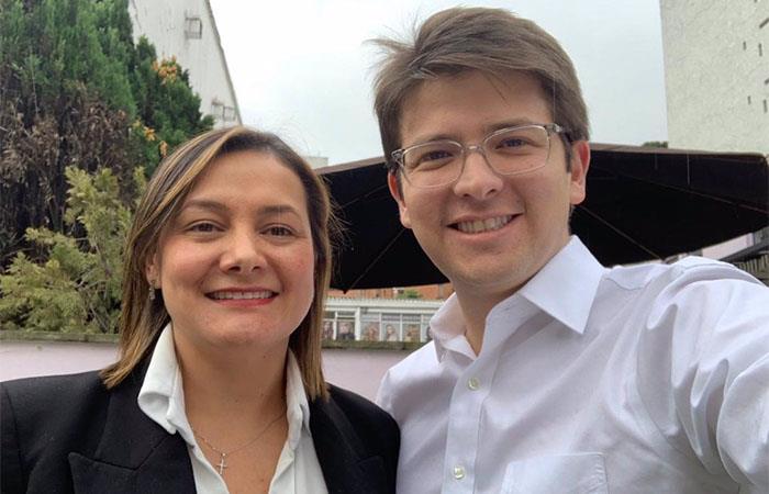 Miguel Uribe y Ángela Garzón invitaron a otros candidatos a unirse a su coalición. Foto: Twitter