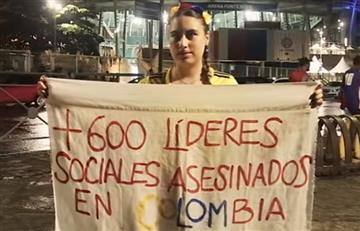 """""""Más de 980 líderes sociales están amenazados en Colombia"""": Defensoría del Pueblo"""