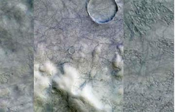Científicos notan remolinos de polvo...en el Polo Norte marciano