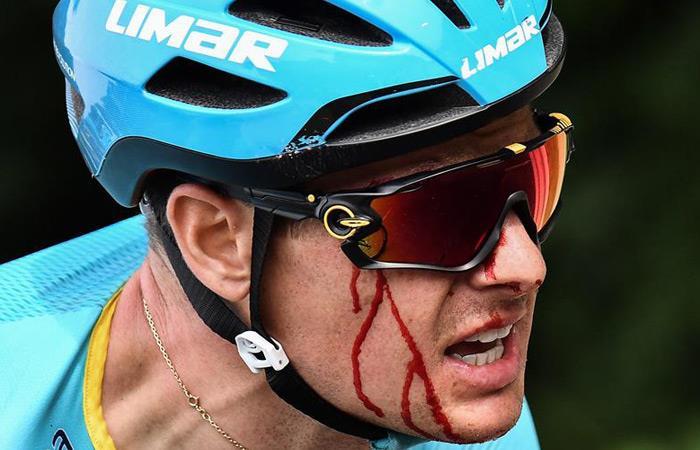 Tour de Francia: Caida Jakob Fuglsang primera etapa