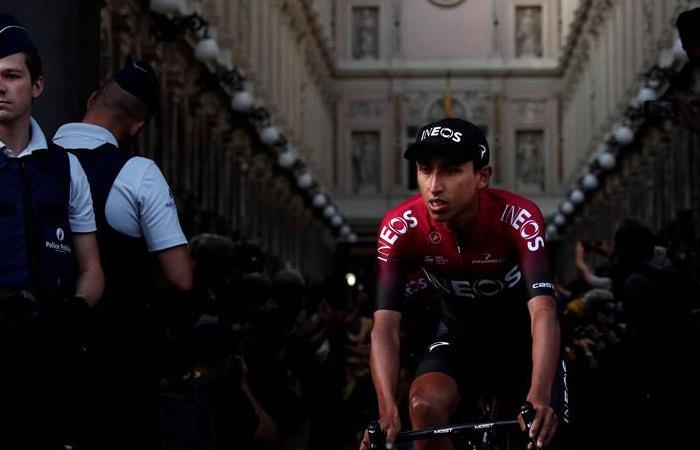 Egan Bernal, ciclista colombiano del Team Ineos. Foto: EFE