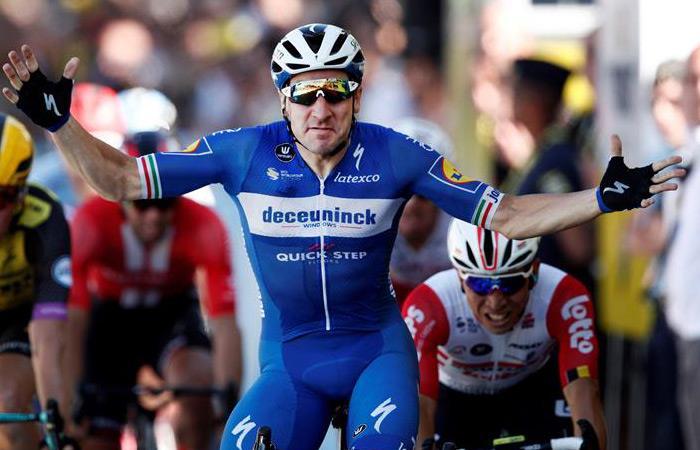 Tour de Francia: Elia Viviani gana la etapa cuatro y Alaphilippe sigue líder