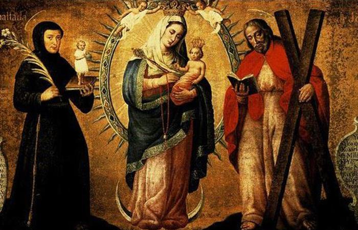 Hoy se cumplen cien años de la Conmemoración de la Virgen de Chiquinquirá. Foto: Twitter