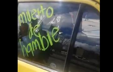 [VIDEO] Taxistas causaron desmanes durante paro en Bogotá