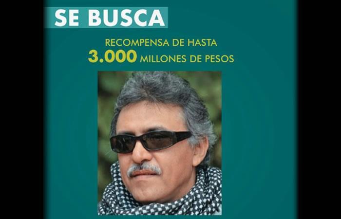 Se ofrece una 'jugosa' recompensa para dar con el paradero del exguerrillero. Foto: Twitter