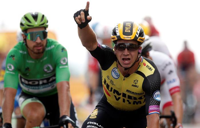 Dylan Groenewegen sumó su cuarta victoria en un Tour de Francia. Foto: EFE