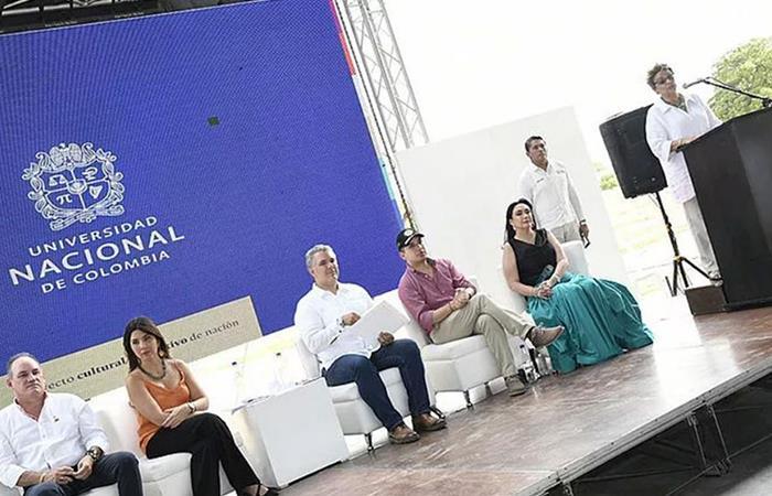 Iván Duque acompaña a rectora de la Universidad Nacional para inaugurar nueva Sede en La Paz