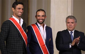 [FOTOS Y VIDEO] Así premió el presidente Iván Duque a Cabal y Farah por su título en Wimbledon