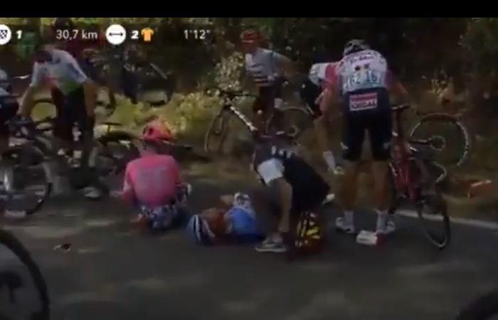 Tour de Francia: Nairo Quintana caída etapa 11