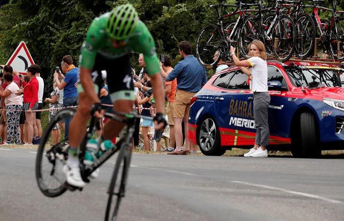 Peter Sagan en plena etapa del Tour de Francia. Foto: EFE
