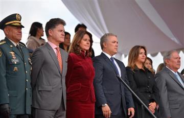 El mandatario colombiano saludó a colombianos en el extranjero