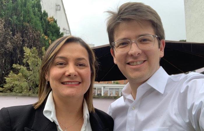 Ángela Garzón y Miguel Uribe. Foto: Twitter