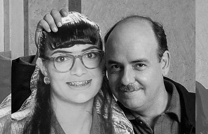 Ana María Orozco junto a Fernando Gaitán. Foto: Twitter