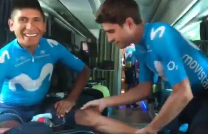 Tour de Francia: Masaje Mikel Landa Nairo Quintana